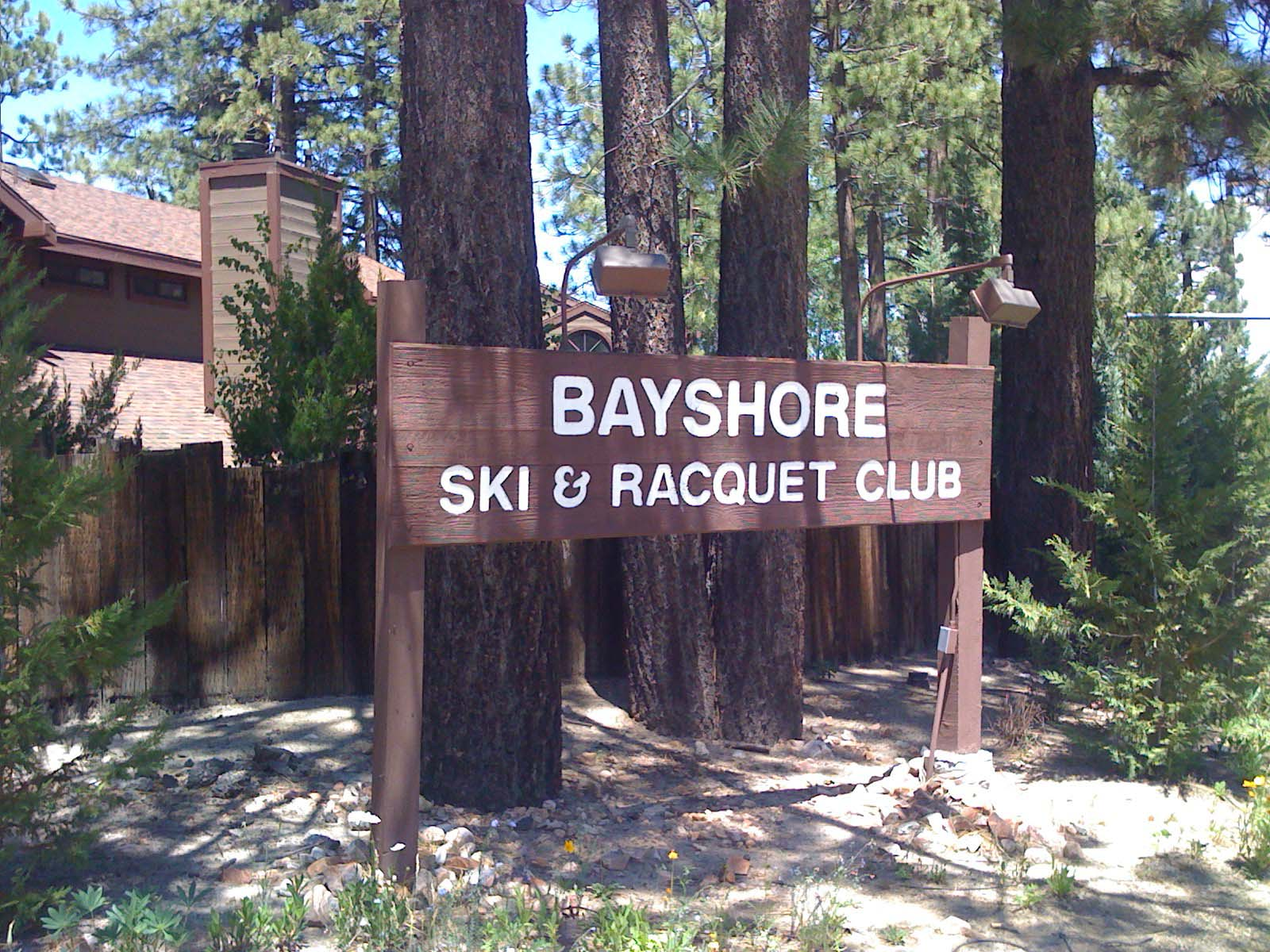 Monument Sign at  Bayshore Ski & Racquet Club